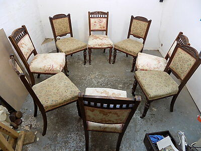 eight,antique,edwardian,carved,mahogany,dining chairs,chair,castors,twelve,mix