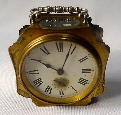 Unusual Antique French Carriage Clock