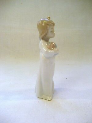 LLADRO Lovely little girl carrying presents (Christmas tree decoration) miniture