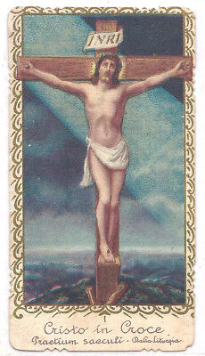 SANTINO IMAGE PIEUSE - HOLY CARD- Heiligenbild Cristo re in croce  n.50