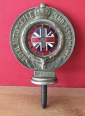 Royal Automobile Club Associate Radiator Cap Badge Nickle Plated