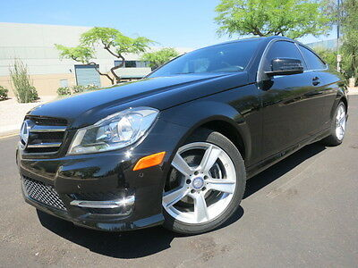 2014 Mercedes-Benz C-Class C250 Coupe Navi Pano Sunroof Sport Package Coupe Warranty 2012 2013 c300 2011 black