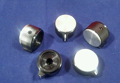 "5 Alco knob KPN-900BA  1/4"" shaft  Black  Aluminum Knobs Made in Japan"
