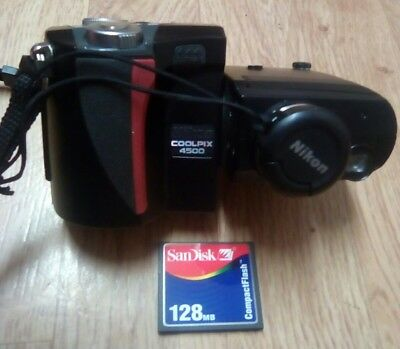 Nikon COOLPIX 4500 4.0MP Digital Camera with Battery and 128mb Compac flash card