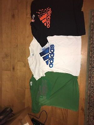 2x Adidas And 1x Lacoste T-shirts
