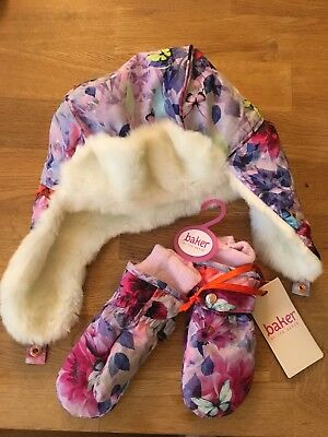 Girls Ted Baker Hat And Gloves