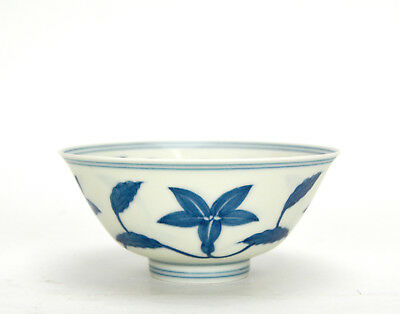 Fine Chinese Blue and White Floral Porcelain Bowl