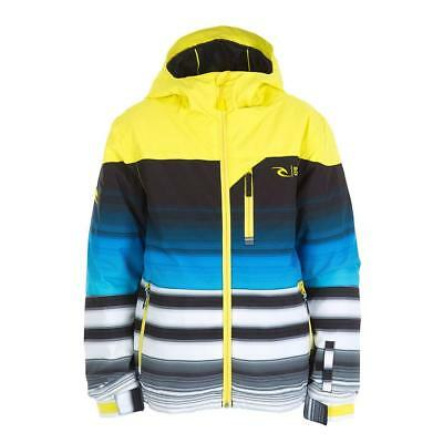 Size XL Mens Rip Curl ENIGMA PRINTED SNOW JACKET Snowboard Ski Jacket - Yellow