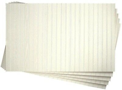 5-Pack White Wainscot Panel 3/16 in. x 32 in. x 48 in. DPI Pinetex Hallway Foyer