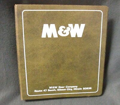 VINTAGE M&W GEAR COMPANY - AGRICULTURAL PARTS AND EQUIPMENT BINDER - 1970's