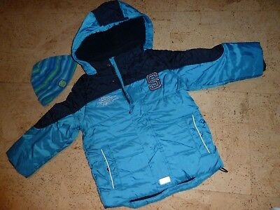h m winterjacke jacke gr 104 blau jungen eur 20 00. Black Bedroom Furniture Sets. Home Design Ideas