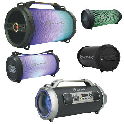 Portable Wireless Bluetooth Speaker Rechargeable Bass Stereo Cylinder SD FM AUX