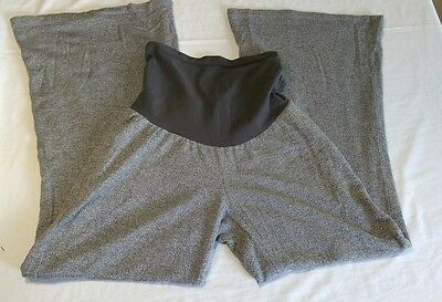A Pea In The Pod Gray Secret Fit belly Wide Leg Maternity Pants Size Large