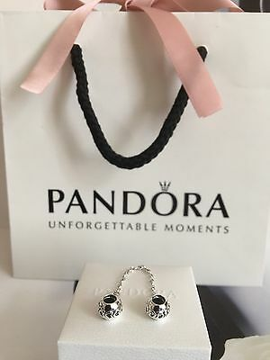 New Genuine Pandora Safety Chain Hearts Chain No.791088 RRP £35