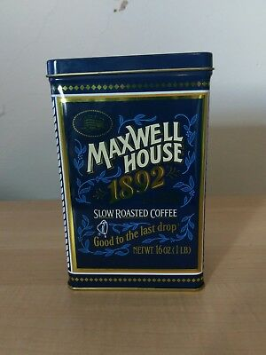 MAXWELL HOUSE Coffee Tin 100th Anniversary 1892-1992 nice condition collectors