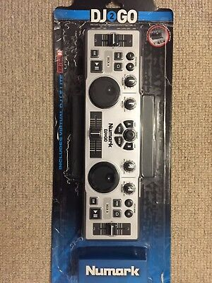 Numark DJ 2 GO - Portable DJ Controller - USB to MIDI - Virtual DJ Software