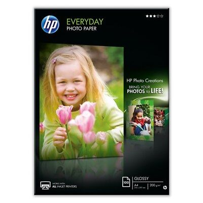 10 SHEETS x A4 GLOSSY PHOTO PAPER 200GSM WHITE PREMIUM HP EVERYDAY CHEAP INKJET