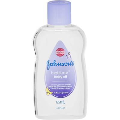Johnsons Baby Bath Bedtime Baby Oil 125ML Clinically Mildness Proven Lavender