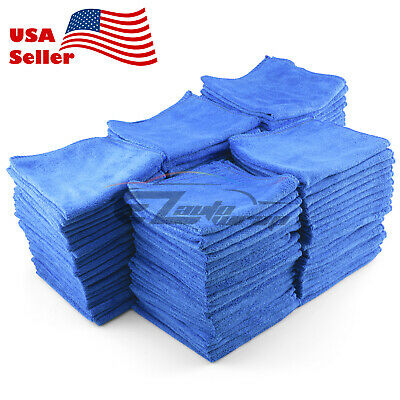 100x Microfiber Cleaning Cloth Towel Rag Car Polishing No Scratch Auto Detailing