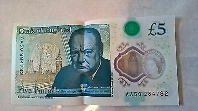 £5 AA50284732 £5 note