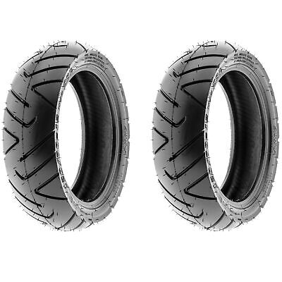 SunF  Motorcycle Scooter Tires 130/60-13 130/60x13 6 PR D009 Tubeless [Set of 2]