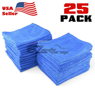 25x Microfiber Cleaning Cloth Towel Rag Car Polishing No Scratch Auto Detailing