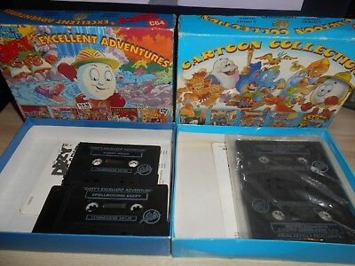 Commodore 64 C64 Dizzy's Excellent Adventures & Cartoon Collection Code Masters
