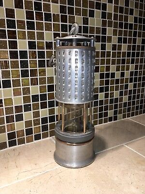Antique Miners Safety Lamp Permissable Kohler working condition