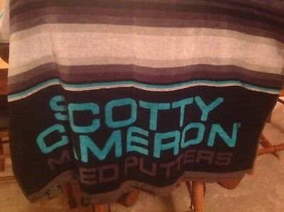 2017 Scotty Cameron Gallery Beach Towel Blue Black Gray Serape