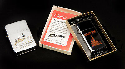 (2) TWO Vintage Zippo Lighter's One New Old Stock With Original Box  NO~RESERVE
