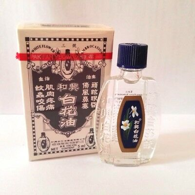 5 ML WHITE FLOWER OIL HOE HIN EMBROCATION PAK FAH YEOW Analgesic ...
