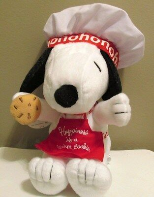 Hallmark Peanuts Snoopy Christmas Plush 'Happiness is a Warm Cookie' New w/Tag