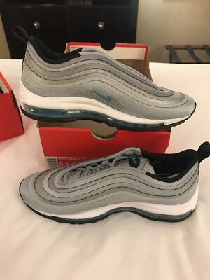 WOMENS NIKE AIR Max 97 Ul Ultra '17 Wolf Grey Marina Blue Sz