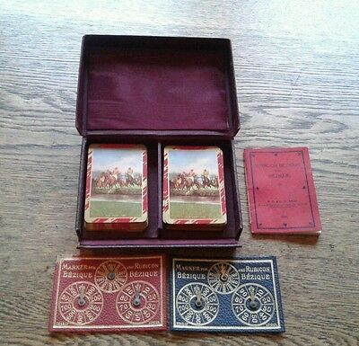 Vintage Bezique 1933 Card Game Horse Racing themed cards Wills