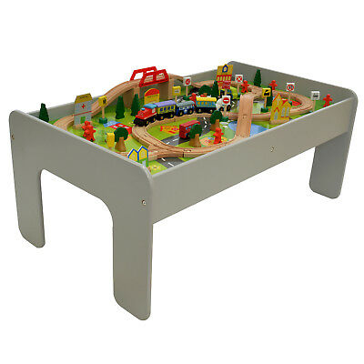 90 Piece Wooden Train Table Set Toy Thomas The Tank Kids Activity