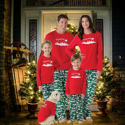 Christmas Family Matching Xmas Gift Pajamas Set Womens Mens Kids Sleepwear AU