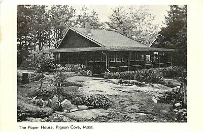 Pigeon Cove, Massachusetts, MA, The Paper House, Vintage Postcard Old PC a7299