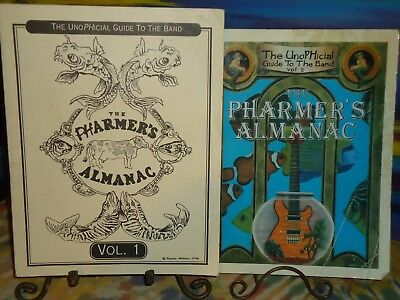 Phish - The Pharmer's Almanac - Vols 1 & 2 - LOT - 2 Pieces - Softcover Books