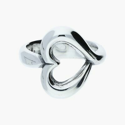james avery / sterling silver abounding heart / ring 6 (6.7g)