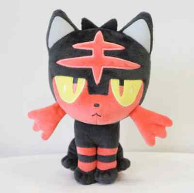 7in New Pokemon Litten Cute Soft Plush Toy Doll New Birthday Gifts