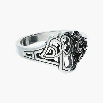 james avery / sterling silver retired openwork guardian angel / ring 6.5 (3.9g)