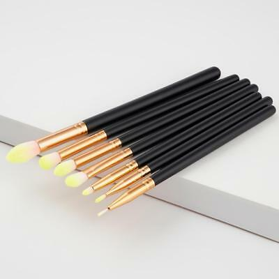 7pcs Makeup Eye Brush Set Natural Hair Eyeshadow Blending Brushes Cosmetics