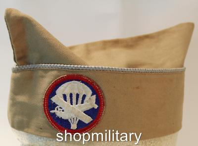 Vintage Wwii Us Army Infantry Glider Khaki Overseas Cap Nice Condition  4128