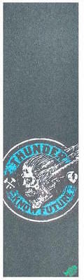 "Mob Skateboard Grip Tape Sheet - 9"" x 33"" - Thunder Know Future - Blue"