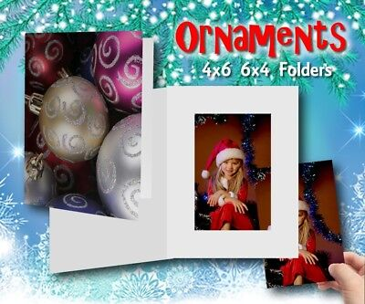 Christmas Ornament Photo Folders holds a 4x6 photo - 25 per pack