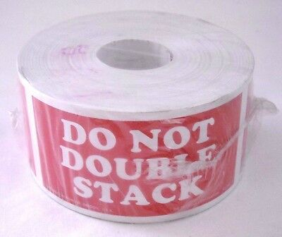 500 2x4 Do Not Double Stack Shipping Sticker Labels