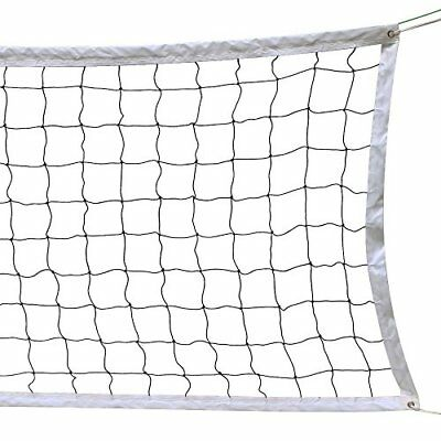 Volleyball Net With Steel Cable Rope Official Size Outdoor Indoor 3...