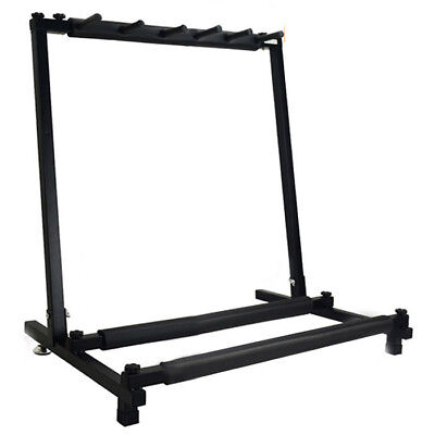 New 5 Way Multi Folding Guitar Rack Stand by Chord For Electric Bass Acoust V1S3