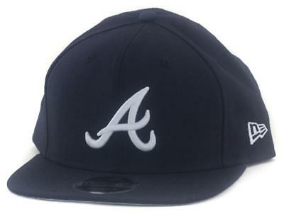 Atlanta Braves New Era MLB 9Fifty Hat Genuine Baseball Cap In Navy