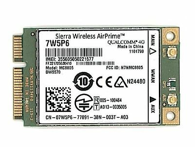 + Dell Wireless DW5570 WWAN 4G HSPA+ 42 Mbit/s Sierra AirPrime 7W5P6 MC8805 +